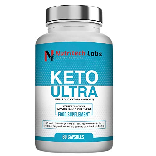 Nutritech Labs Keto Diet Pills - Burner That Work Fast for Women, Advanced Slimming Tablets, Carb Blocker Pill, Ketones Supplement, 60 Capsules with Electrolyte, Vitamin & Mineral