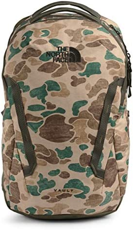 The North Face Vault Backpack Hawthorne Khaki Duck Camo Print New Taupe Green One Size product image