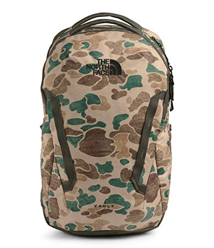 The North Face Vault Backpack Hawthorne Khaki Duck Camo Print/New Taupe Green One Size