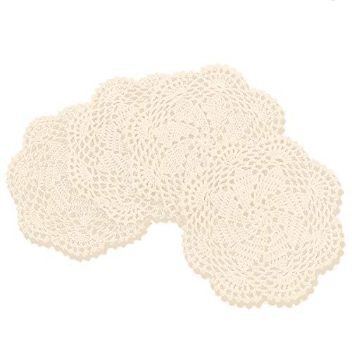 gracebuy 100% algodón Hecho a Mano Crochet Encaje manteles Individuales...