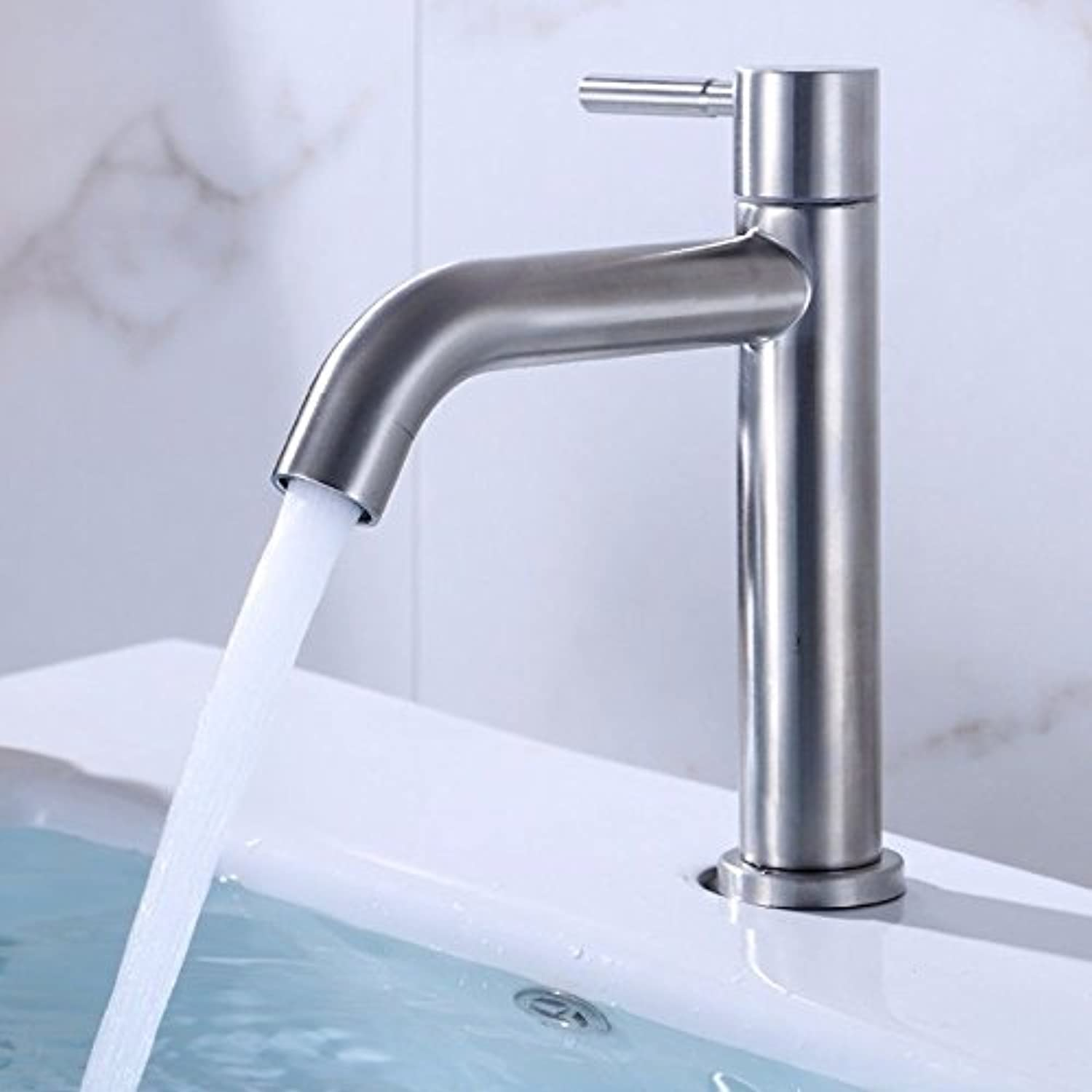 Lalaky Taps Faucet Kitchen Mixer Sink Waterfall Bathroom Mixer Basin Mixer Tap for Kitchen Bathroom and Washroom 304 Stainless Steel Single Cold