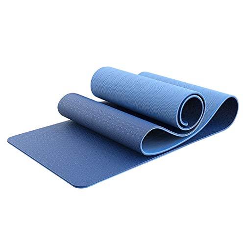 labworkauto Esterilla de yoga para ejercicios de fitness antideslizante TPE para ejercicios de yoga y pilates