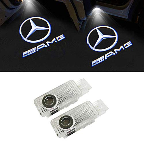 Likecar 4 stücke Auto Projektor Türlampe Geist Schatten Willkommen Licht Courtesy Logo (4 E-AMG) (4 E-AMG)