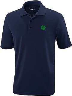 Custom Polo Performance Shirt Four Leaf Clover Embroidery Design Golf Shirt