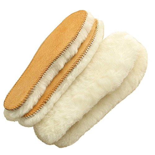 Australian Sheepskin Insoles,Thick and Warm Wool Insole,Women Men Replacement Insole (8 M US Women)