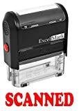 ExcelMark SCANNED Self Inking Rubber Stamp - Red Ink (42A1539WEB-R)