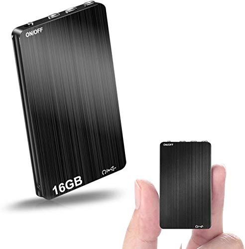 Mini Voice Recorder, 16GB Voice Activated Recorders Portable USB Ultra Thin...