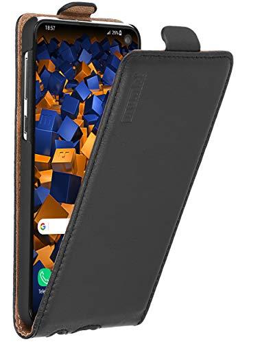 mumbi Tasche Flip Hülle kompatibel mit Samsung Galaxy S10e Hülle Handytasche Hülle Wallet, schwarz