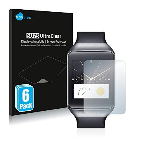 Savvies 6X Schutzfolie kompatibel mit Samsung Gear Live Bildschirmschutz-Folie Ultra-transparent