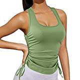 SSDXY Workout Tank Top for Women Athletic Sleeveless Yoga Tops Gym Tee Shirt Exercise Racerback Sports Shirts Blouse