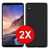 TBOC 2X Coque Gel TPU Noir pour Xiaomi Mi Max 3 (6.9 Pouces) [Pack: Deux Unités] en Silicone Souple...