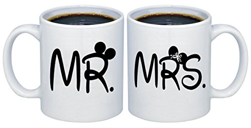 P&B MR. - MRS. Valentines Gifts for Couples Coffee Mugs MCPL117 (Ceramic, 11 oz. (Set of 2))