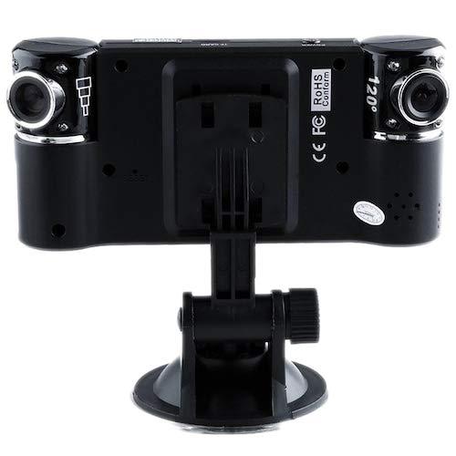 HaiMa M30 Coche Doble Lente Infrarrojo Visión Nocturna Grabadora De Conducción - Negro