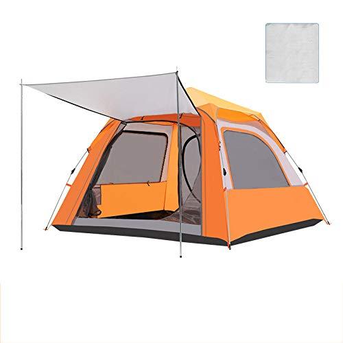 XWZH Lienzo de Uso General Tienda automática al Aire Libre 3-4 Salvaje de la Familia Camping Espesar Prueba de Lluvia 2 Single Silvestre (Color : Orange)