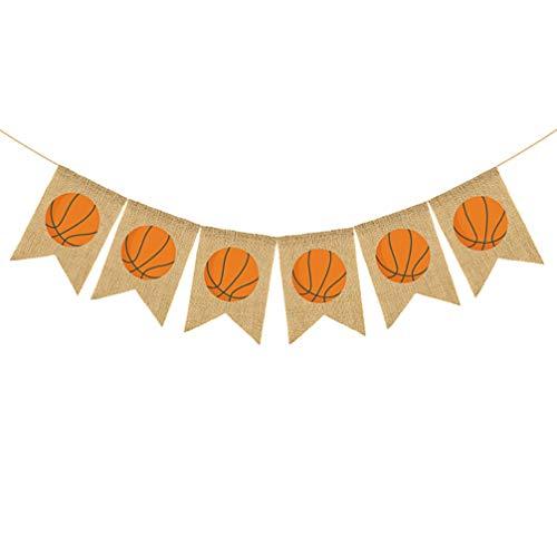 VALICLUD Baloncesto Colgante Banner Lino Deportes Temáticos Banderines Guirnalda para Decoración de Favores de Fiesta de Dormitorio en Casa (Colores Surtidos)
