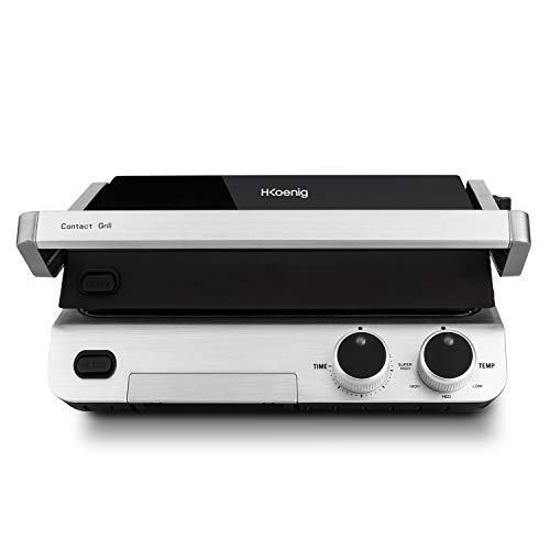 H.Koenig Contact Grill Plancha Electrique de table...