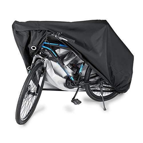 YBZX Bike Cover for Outdoor Storage Heavy Duty 190T Nylon Rain UV Protection Dustproof with Lock Holes and Storage Bag Perfect for Mountain Road Bikes/Bicycle