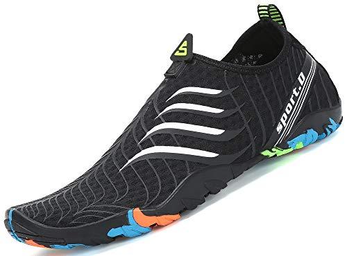 SAGUARO Skin Shoes Descalzo acuático Aqua Calcetines para de Nadada de la Playa de la Resaca de la Yoga, Blanco 40
