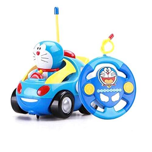 EASTVAPS Doraemon Electric Toys Coche de Control Remoto para niños RC Car Musical Light Child Race Car Toy