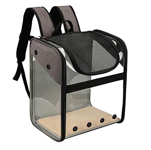 Pbp Haustierrucksack, transparente sichtbare Katzentasche aus PVC-Raumkapsel, tragbare Klapptasche für Haustiere, Outdoor-Reise-Katzen- und Hunderucksack, Gepäckträger