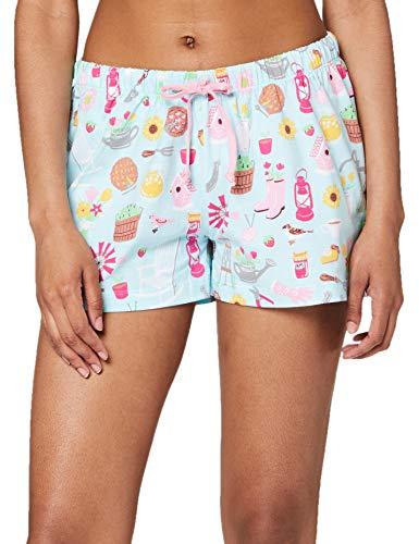 Hatley Damen Pyjama Boxer Shorts Pyjamaunterteil, Country Living, Medium