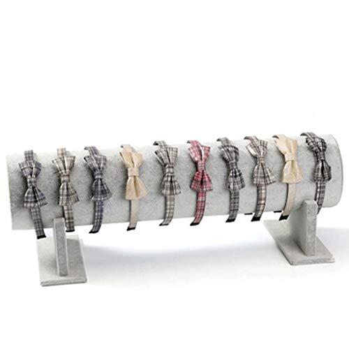 LXX Soportes Joyería Soporte de exhibición - Cinta de Cabeza Holder - escaparate de la joyería y Organizador for Las Vendas, Cascos Cadenas Decorativas Cajas (Color : Gris)