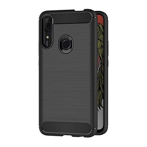 AICEK Funda Compatible Huawei P Smart Z, Negro Silicona Fundas para Huawei P Smart Z Carcasa P Smart Z Fibra de Carbono Funda Case (6,59 Pulgadas)