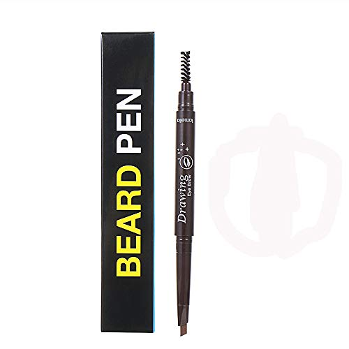 Beard Filler Pen, Fast Camouflage Natural Hair Grower Beard Pencil, Male Styling & Beard Shaping Tool, Facial Hair Supplies, Gifts for Men (Dark Brown)