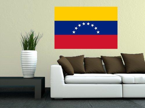 Kiwistar Wandtattoo Sticker Fahne Flagge Aufkleber Venezuela 60 x 40cm
