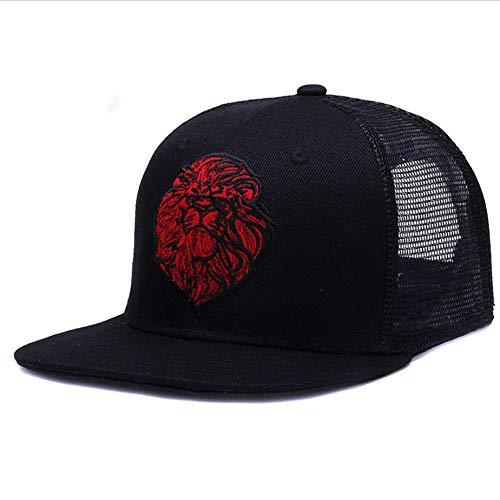 Schwarze Baseballmützen Für Jungen-Mädchen-Sommer-Sonnenhut-Stickerei-Löwe-Ineinander Greifen-Hysteresen-Hip Hop-Knochen-Fernlastfahrer-Hut