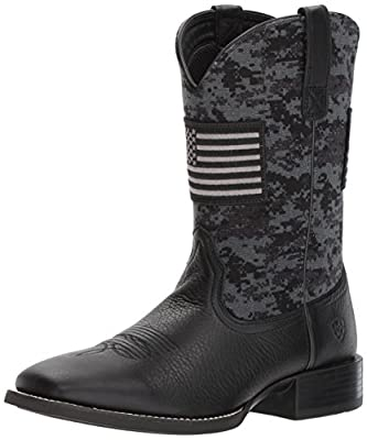 Ariat Men's Sport Patriot Western Boot, Deer tan/Black camo Print, 12 E US