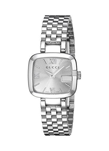 Gucci YA125517 dameshorloge, kwarts, armband van roestvrij staal, zilverkleurig