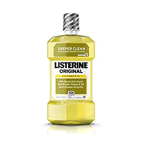 Listerine Original Oral Care Antiseptic Mouthwash with Germ-Killing Formula to Fight Bad Breath, Plaque and Gingivitis, 500 mL (Pack of 2)
