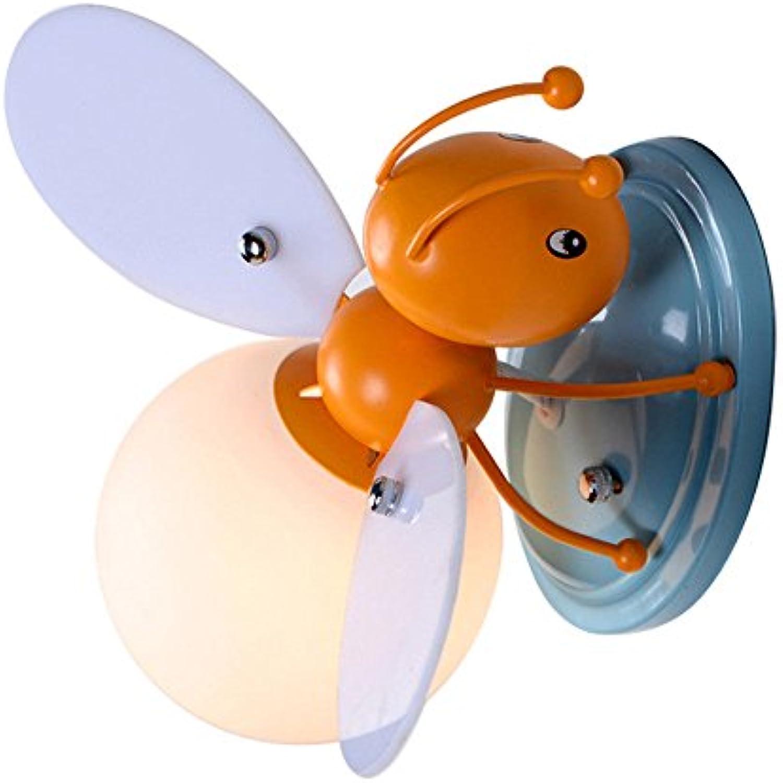 Wandleuchte,LED-Kind Biene junge Mdchen Schlafzimmer Nachttischlampe Kinderzimmer Dekoration Lampen Wand Lampe