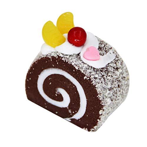 VOSAREA Künstliche Kuchen Spielzeug Realistisch Torten Modell Fotorequisiten für Kinder Küche Halloween Party Dekoration (Kaffee)