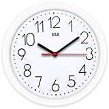 HITO - Reloj de pared silencioso (sin tic-tac) de 10 pulgadas