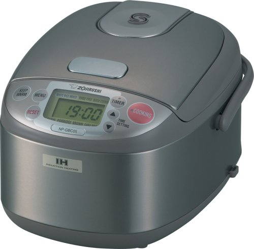 Zojirushi NP-GBC05 3-Cup (Uncooked) Rice Cooker and Warmer with Induction Heating System