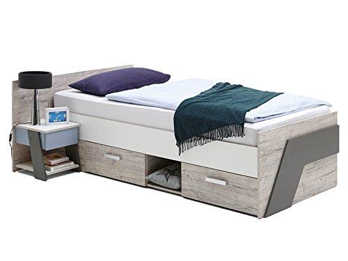 Bett Einzelbett Kinderbett Jugendbett Holzbett Kinderzimmer Möbel Ferdy I