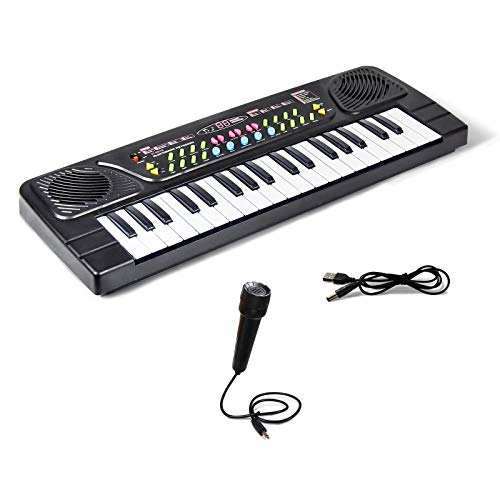 TOMMYHOME Electronic Piano Keyboard 37 Key with Microphone-Kids Learning Keyboard Portable Electric Piano,Music Beginner Mini Piano Keyboard for Kids