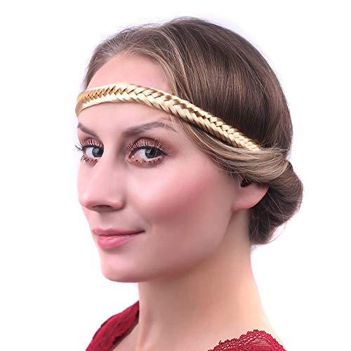 RemeeHi geflochtenes Haarband mit Blond, Fischschwanz, Fake Hairpiece Kunsthaar Extensions Zubehör Fashion Perücken