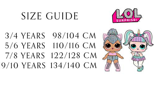 L O L Surprise! Vestido para Niñas, Falda de Tul Tutú de Ballet Brillante en 3D, Vestido de Manga Larga Princesa, Diseño Kitty Queen y Unicornio, Regalo para Niñas! 3 a 10 Años (9/10 Años)