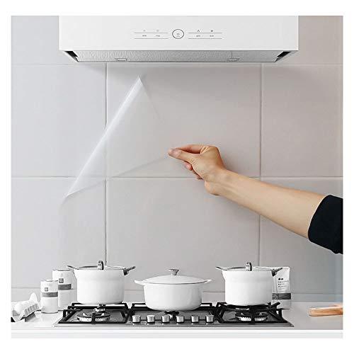 4 Stück Ölbeständige Wandsticker Tapete Küche Backsplash Wandschutz Transparent Wasserdicht Hitzebeständig Selbstklebend Aufkleber für Küche Esszimmer Holz Arbeitsplatte