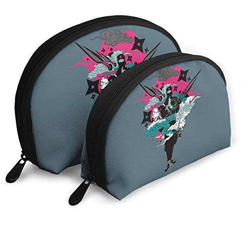 XCNGG Bolsa de almacenamiento Cool Japanese Ninja Style Portable Travel Makeup Handbag Impermeable Organizador de artículos de tocador Bolsas de almacenamiento