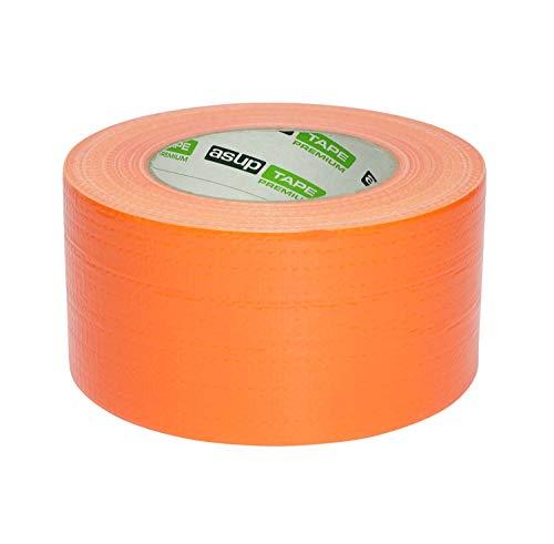ASUP TAPE PREMIUM - 72 mm x 50 m - Gewebeklebeband | Reparaturband | Panzerband | orange| für Innen- und Außenanwendung | für glatte und raue Oberflächen | von Hand reißbar | feuchtigkeitsbeständig