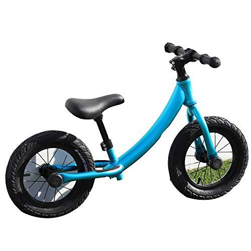 YumEIGE Loopfiets voor jongens en meisjes, 3-5 jaar oude, elastische fietsbanden, lichtgewicht balansfiets, 4 kleuren blauw