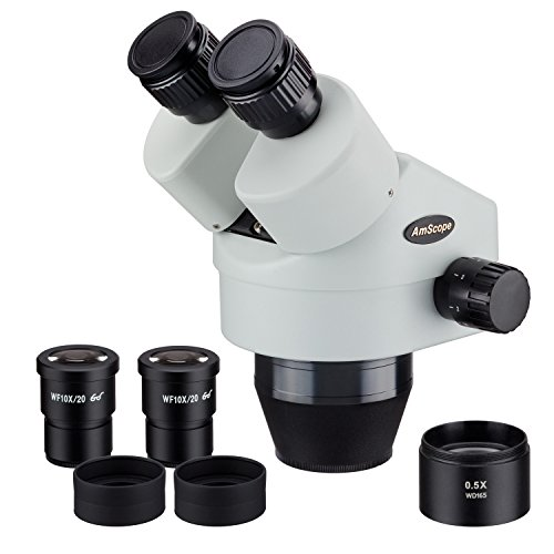 AmScope SM3545B 3.5X-45X Binocular Zoom Power Stereo Microscope Head
