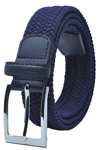 "Ashford Ridge 33mm (1.25"") cinturón elástico Azul oscuro (tamaños 80cm - 100cm)"