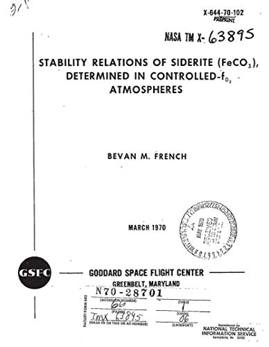 Stability relations of siderite /FeCO3/, determined in controlled-f sub O2 atmospheres (English Edition)