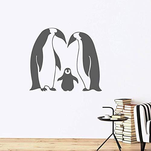 FXBSZ Anpassbare Farbe Pinguin Mutter Sohn Vinyl Wandaufkleber personalisierte Aufkleber Home Decoration Aufkleber Mode Wandaufkleber Gelb 50cm x 44cm
