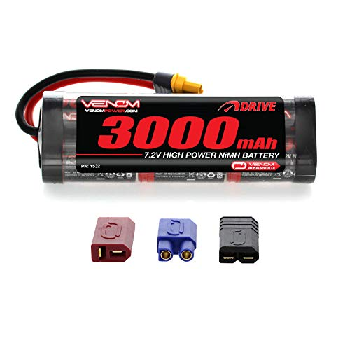 Venom 7.2V 3000mAh 6-Cell NiMH Battery with Universal Plug (EC3/Deans/Traxxas/Tamiya)